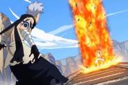 Natsu in flames