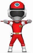 Red Prism Ranger in Power Rangers Dash