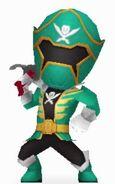 Green Super Megaforce Rangers In Power Rangers Dash