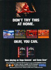 Mighty Morphin Power Rangers the movie game gear genesis print ad NickMag Nov 1995