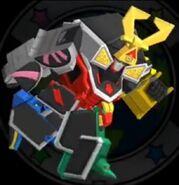 Samurai Megazord in Power Rangers Dash