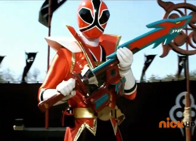 File:Red Samurai Ranger Shark Attack Mode.jpg