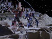 Centaurus & Stratoforce Megazord Original Zord Footage