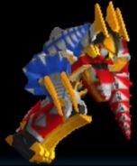 Thundersaurus Megazord in Power Rangers Dash