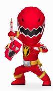 Red Dino Ranger in Power Rangers Dash