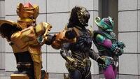 Three Bangai Hero Clones