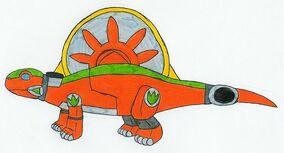 Orange Dimetrozord by MCsaurus
