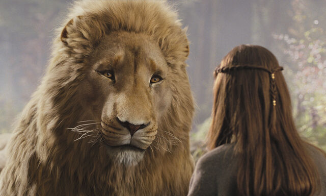 File:Aslan-talks-to-Lucy-Pevensie-about-what-lies-ahead-in-her-adventure.jpeg