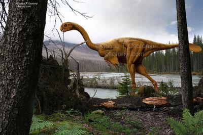 Gigantoraptor scene