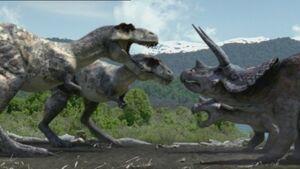 1x1 TriceratopsVSTyrannosaurus