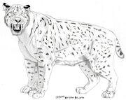 Smilodon populator by Jagroar