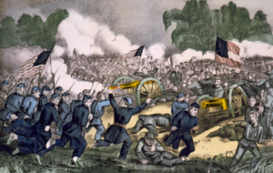 300px-Battle of Gettysburg, by Currier and Ives