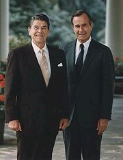 President Ronald Reagan and Vice President George Herbert Walker Bush