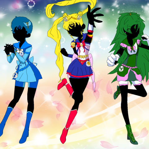 Minako and her friends in a promo picture for <a href=