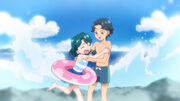 Young Minami and Her Brother.jpg