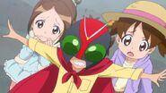 Takuma protecting eri and mao