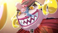 PCDS Sakura Shizuku dangling from Crow Tengu's nose