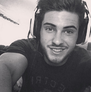 Cody Christian in black and white