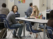 Caleb and hanna at lunch