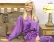 Teri Harrison in Satin Sleepwear-13