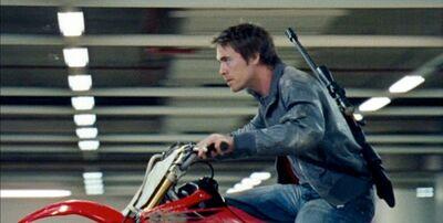 Stephen chasing raptor