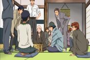 Chitose taking on some elderly at Shogi.