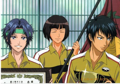 File:Rikkai 's Three demons after winning the Nationals for the first time.jpg