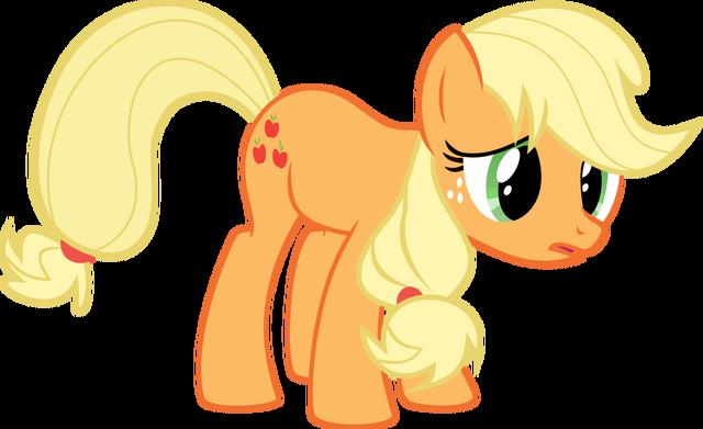 File:My little pony vector sad applejack by krusiu42-d5owbik.png