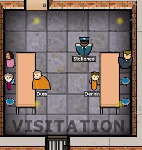 Prison Architect Visitation Room Design