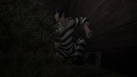 Kiyoshi digs escape hole