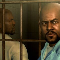 C-Note talking with Black Hitman