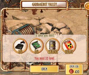 Garbagebot Valley - unlock cost