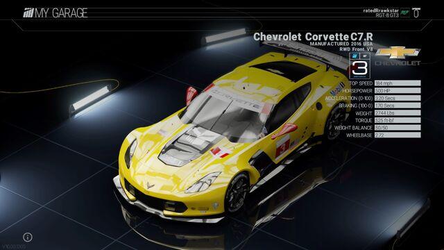 File:Project Cars Garage Chevrolet Corvette C7.R.jpg