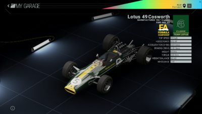 Project Cars Garage - Lotus 49 Cosworth