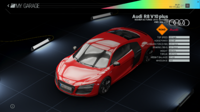 Project Cars Garage - Audi R8 V10 plus