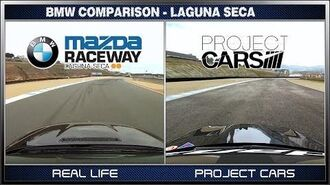 Project CARS vs Real Life - BMW @ Laguna Seca What is Real?