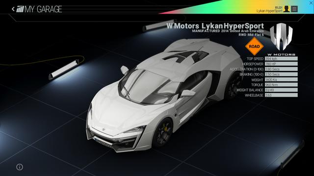 File:Project Cars Garage - W Motors Lykan HyperSport.png