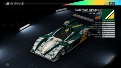 Project Cars Garage - Caterham SP-300R