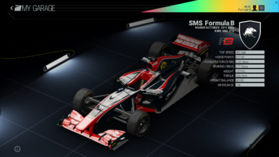 Project Cars Garage - SMS Formula B