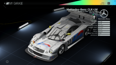 Project Cars Garage - Mercedes-Benz CLK-LM
