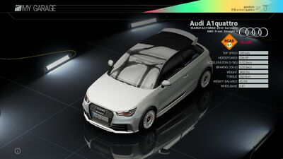 Project Cars Garage - Project Cars Garage - Audi A1 quattro