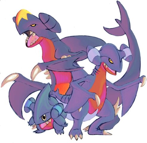 File:Garchomp Gible and Gabite by DragonicDarkness.jpg