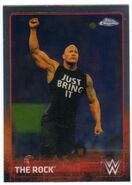 2015 Chrome WWE Wrestling Cards (Topps) The Rock 57