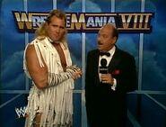 WWE-WWF Wrestlemania-VIII Gene-Okerlund intervies Brutus-TheBarber-Beefcake