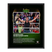 Dean Ambrose Money In The Bank 2016 10 x 13 Photo Plaque