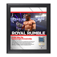 Neville Royal Rumble 2017 15 x 17 Framed Plaque w Ring Canvas