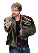 Dean ambrose wwe world heavyweight champion by nibble t-d8vp0ah