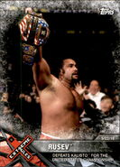 2017 WWE Road to WrestleMania Trading Cards (Topps) Rusev 85