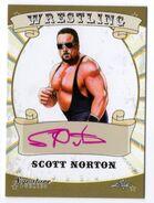 2016 Leaf Signature Series Wrestling Scott Norton 75