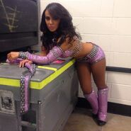 Layla Backstage at Raw